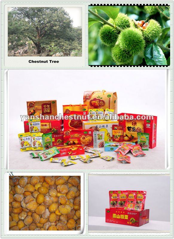 New Organic Shelled Roasted Chestnut Snack with Nitrogen Filled Package