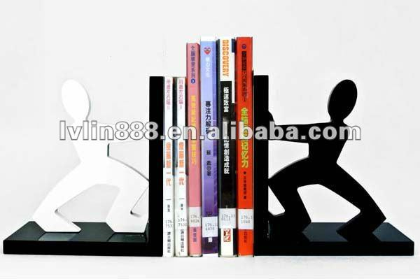 Wooden Bookend book holder stand for office