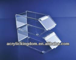clear acrylic stackable candy bins