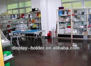 Chinese factory plexiglass table tent menu display rack used in super mall