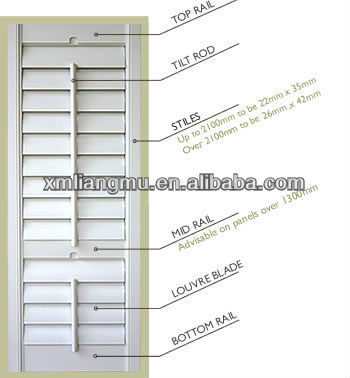 MARCH EXPO Aqueous Paint Pvc Plantation Shutter Profile
