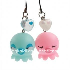 fashion lovely PVC mobile phone cellphone straps