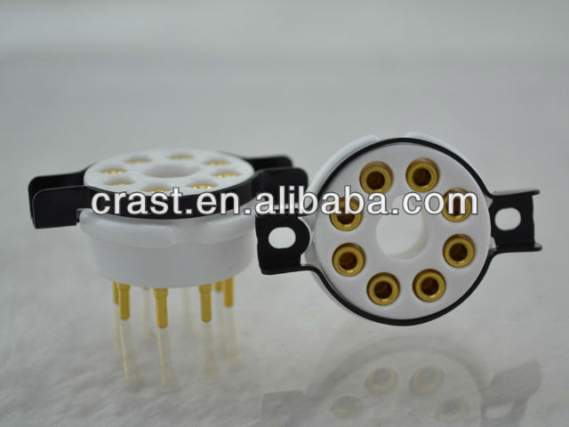 Audiocrast ceramic socket for 8 pin tube socket