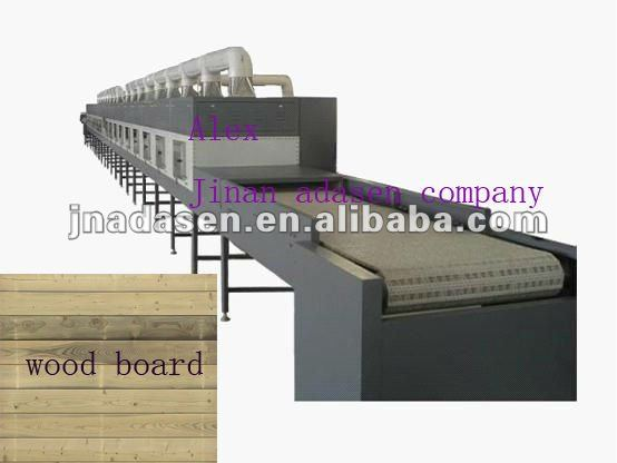 High speed continuous microwave kinds of wood products/pencil board drying machine