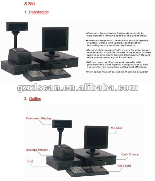 Integrated POS Terminal / POS Machine/ POS System/Cash Register NT-S350