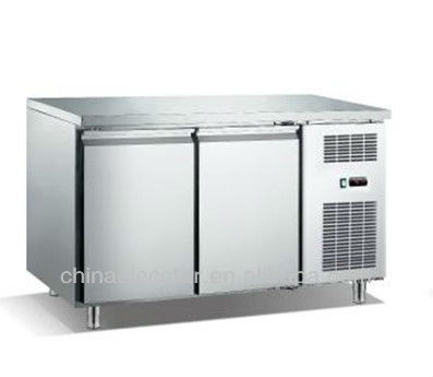 Salad Preparation Refrigerator,kitchen refrigerator, glass top stainless steel salad bar