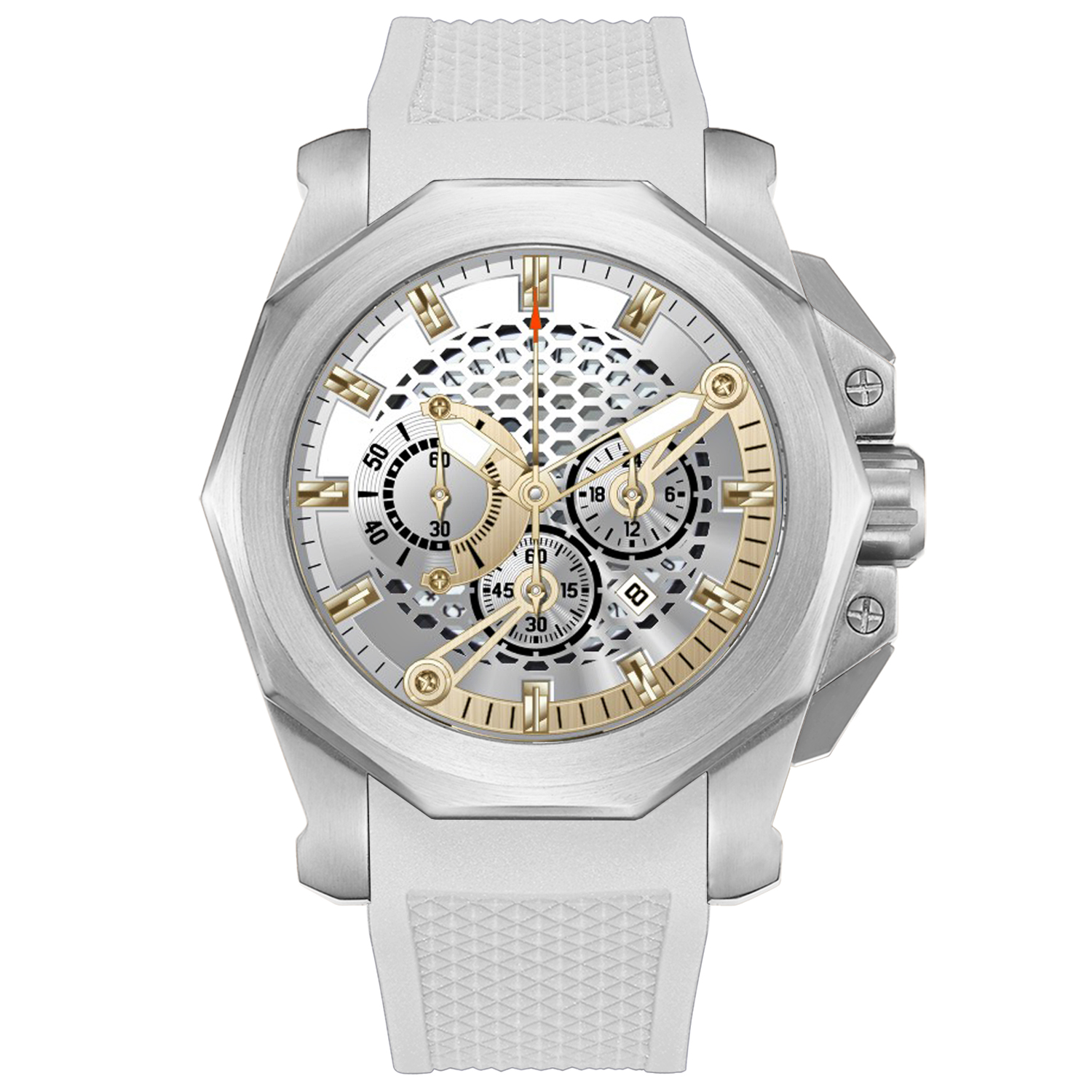 Customized Your Logo White Mens <strong>Watches</strong> Stainless Steel Minimalist <strong>Watch</strong> Chronograph Wristwatches