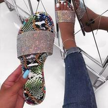 SD-079 fashion snake skin print sole with sequined beads decorated open toe slipper sanldals beach flat <strong>sandals</strong> women