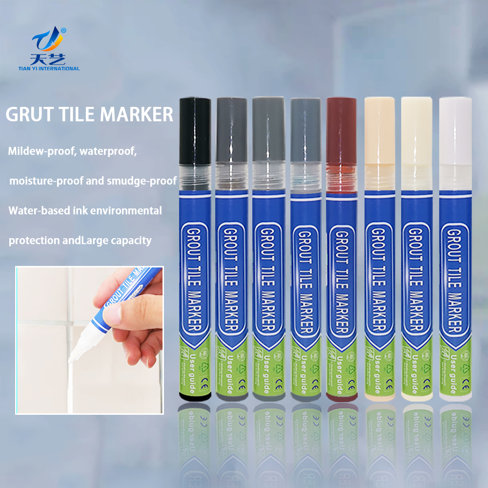 COSIEST Grout Pen White, 7 Pieces Grout Line Repair Kit - 3 Pieces Grout Markers, 3 Pieces Pen Nib Replacement <strong>w</strong> 1 Piece
