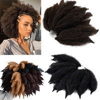 Marley Afro curl marley braid hair Top Quality Ombre Marley Braids Faux Locs Braiding Hair Synthetic Crochet Hair Extensions