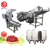 Chinese suppliers automatic chili tomato sauce processing machine making equipment tomato paste production line price