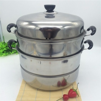 Stainless Steel Steamer Pots Food Steaming Double Boiler Steamer