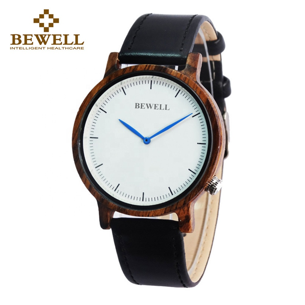 Wholesale Factory Zebra Wooden Wrist <strong>Watch</strong> For Fashion Gifts With Genuine Leather Men's Wooden <strong>Watch</strong>