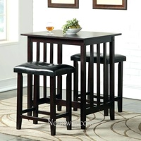 3 piece bar table sets pub counter height set