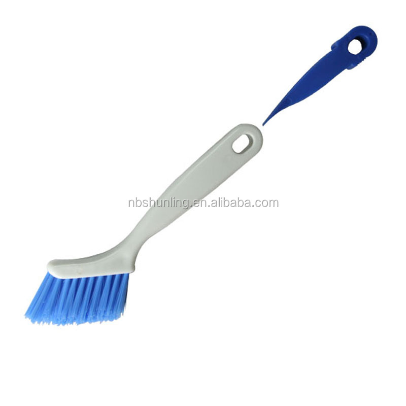 plastic 2 in 1 Window Track or slide door track cleaning brush sliding rail brush with scraper window crevice Groove Gap brush