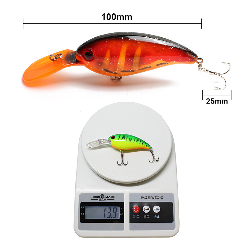 New style wobbler crank bait lure 10cm/13.9g gold plastic minnow lure <strong>20</strong> colors lures hard lures