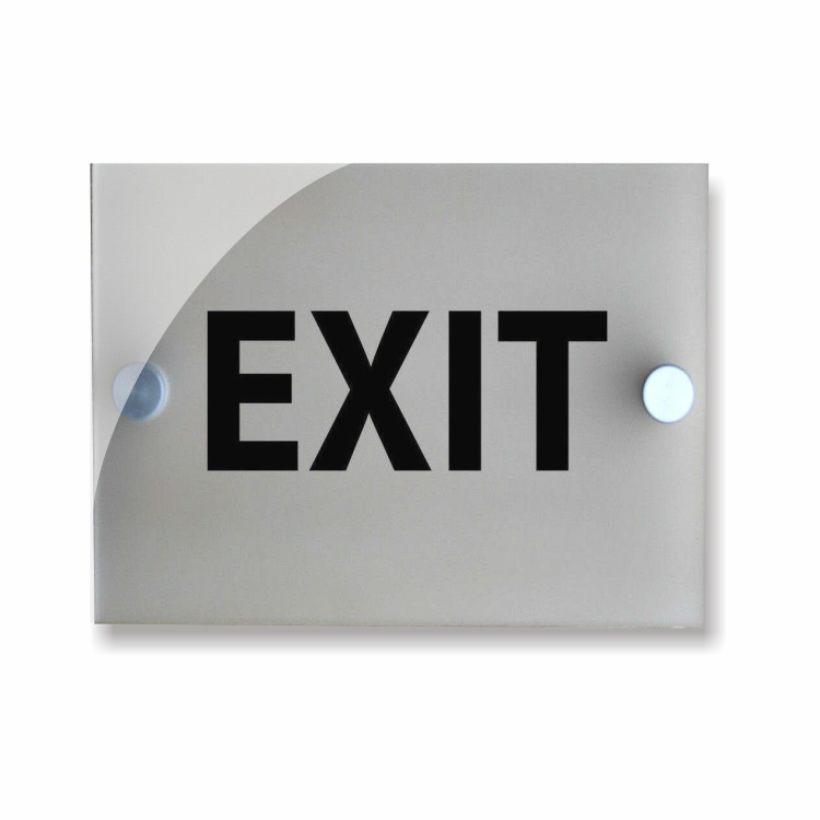 &quot;EXIT&quot; FROSTED ACRYLIC SIGNS - FOR HOTEL / OFFICE / <strong>RETAIL</strong> / WALLS OR DOORS