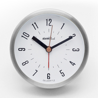 Smart mini alarm clock with silver frame