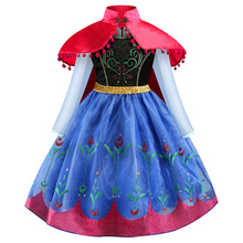Cinderella Elsa Anna Party <strong>Dresses</strong> For Halloween Christmas Children <strong>Girl's</strong> Flower <strong>Dress</strong> Clothes Kids Clothing