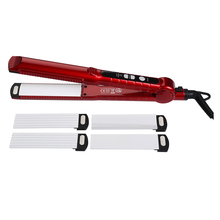 Wholesale High quality ceramic plating pink and red <strong>best</strong> flat iron <strong>hair</strong> <strong>straightener</strong>