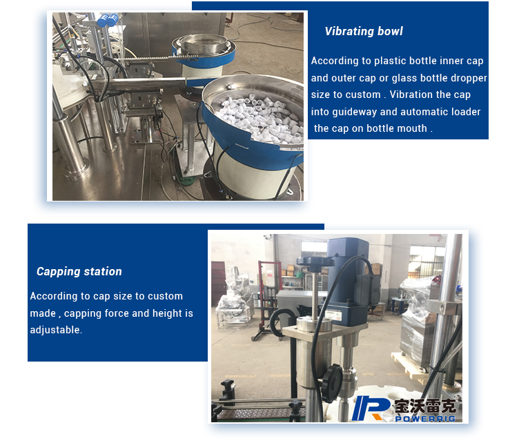 Small scale bottle beauty e- liquid filling capping machine for sale