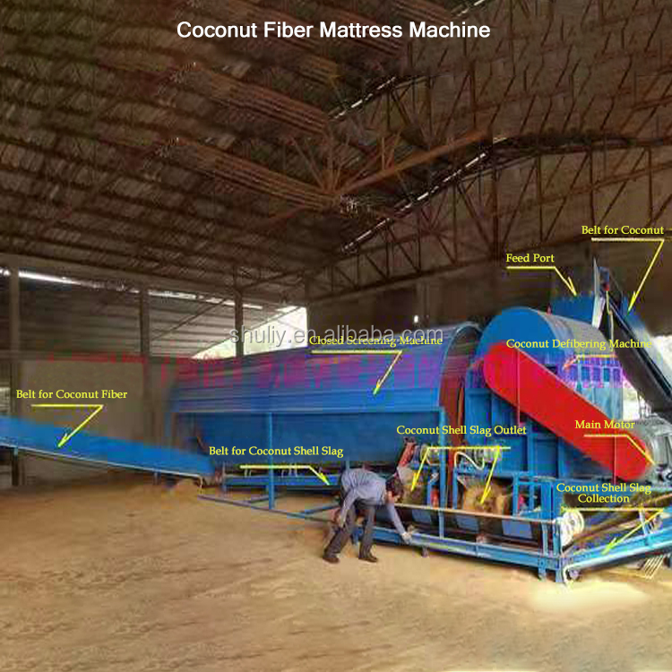 china products coconut fiber fabric coir extracting coconut fiber machine