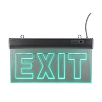 Led emergency running man exit right side acrylic exit sign light