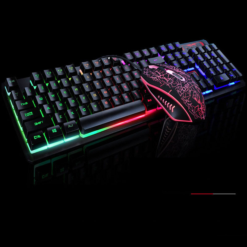 Laser Printing + 2400DPI 4D mouse Wired <strong>104</strong> Keys Multimedia Ergonomic K3 Gaming Keyboard and Mouse