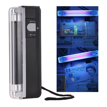DL-01 handheld portable 2 in 1 led uv Lamp money detector mini Multi Currency tester detector cash detector with torch UV light