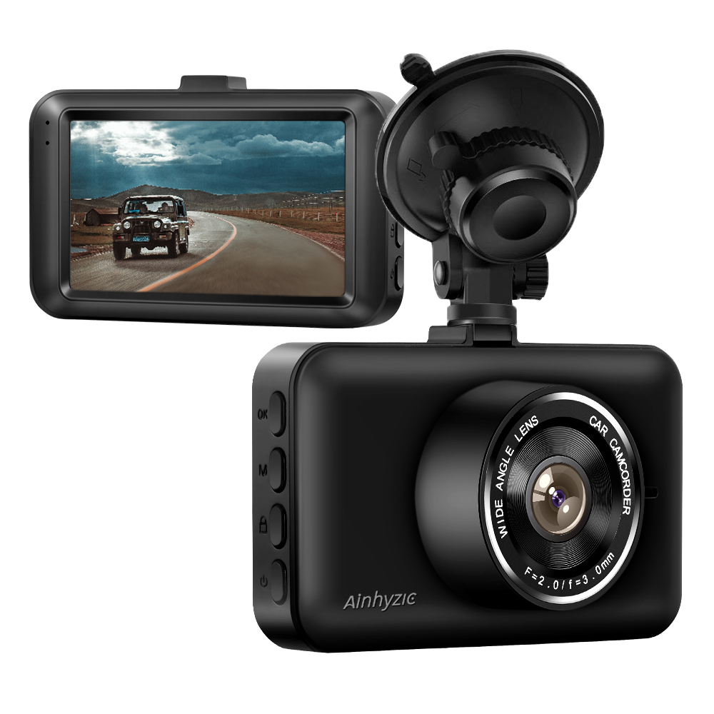 "Dash Cam,Car DVR Dashboard Camera Recorder 3.0/"" LCD Screen Car Camera 1080P FHD DVR Car Driving Recorder with 140/° Wide Angle,G-Sensor,WDR,Parking Monitor,Loop Recording,Motion Detection,Night Light CAMAKT"