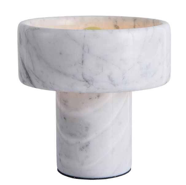Modern white marble table lamp model bedside room lighting home desk lamp