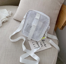 2019 new Korean version of the wild cool <strong>Backpack</strong> mini shoulder Messenger bag transparent jelly <strong>backpack</strong> for women