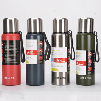 wholesale 1l vacuum travel mug flask stainless steel cup