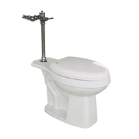 Chaozhou porcelain factory sanitary ware bathroom siphonic toilet bowl 1piece set white modern design hot sale with flush valve