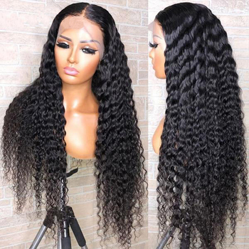 Wholesale Virgin Hair Vendor 13x4 360 Lace Frontal Human Hair Wig Brazilian Cuticle Aligned Hair Deep Curly Wave Lace Front Wigs