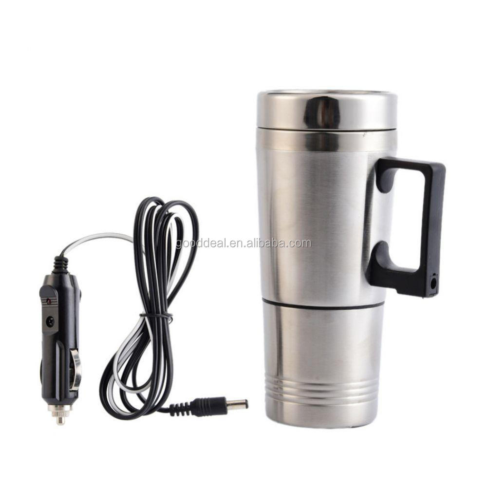 12V Car Heating Cup Stainless Steel car Heated travel mug