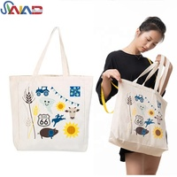 Custom dust organic cotton tote bag ladies bags handbag women wholesale