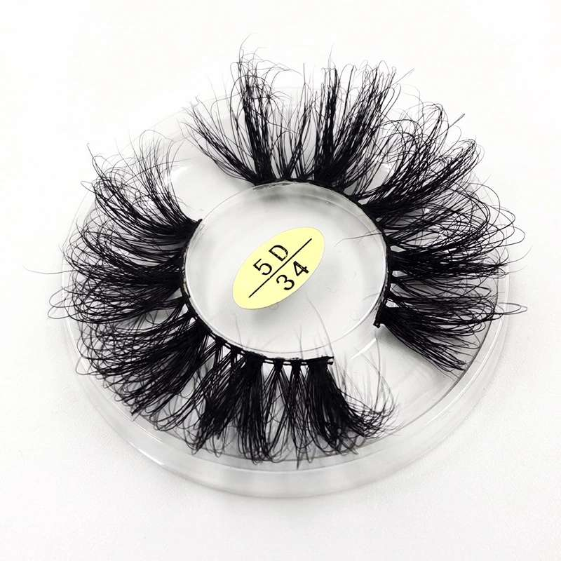 Top <strong>Manufacturer</strong> 25 mm 27mm 30mm Bulk Fluffy 3D 6D Siberian Real Mink Eyelashes With Customized Feather Box