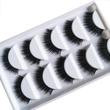 Synthetic minik lashes <strong>flat</strong> false private label 5 pairs mink 3d 15 mm lashes
