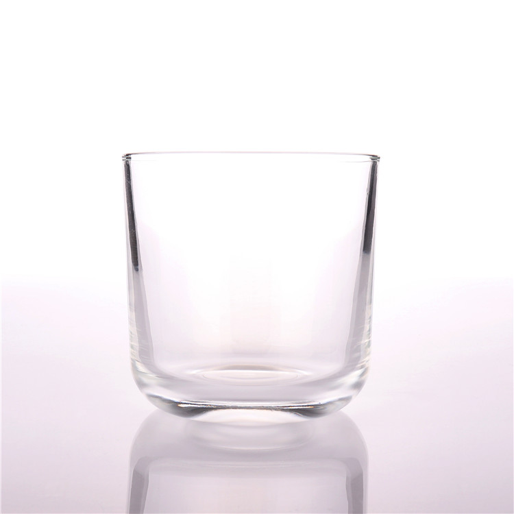 BOYE Manufacturing <strong>102</strong>*102mm Wholesale Hot Sale Large Clear Round Glass Jars For Candle Making