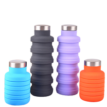 Stocked, BPA Free High Quality Expandable Folding Collapsible Travel <strong>Sports</strong> Drinking Silicone Foldable Water Bottle
