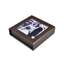Special brown vinyl <strong>paper</strong> USB Flash Drive Packaging Gift Box for wedding