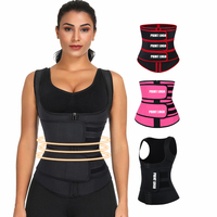 Lover-Beauty Wholesale Private Label Latex Two Belt 9 Steel Boned Zipper Women Waist Trainer Vest