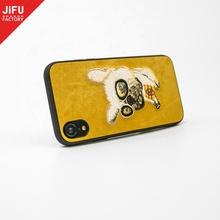 3D designed embroidery PU leather <strong>mobile</strong> <strong>phone</strong> cover embroidery <strong>phone</strong> shell 3D leather case for new arrival <strong>phone</strong>