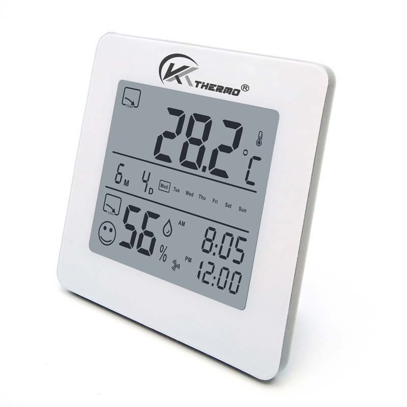 Digital Indoor LCD MAX MIN Clock Hygrometer Thermometer Accurate Temperature with alarm ,date ,back light for Home, Office