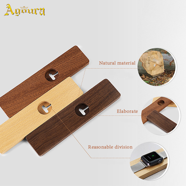 Accept custom for Apple Watch wooden base smart watch charging Stand