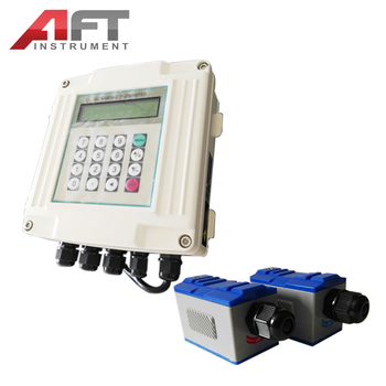 Wall-mounted liquid ultrasonic flow meter for easy installation