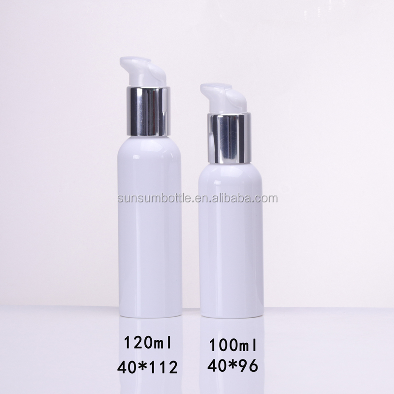 PET round square cream bottle plastic white transparent and clear in stock