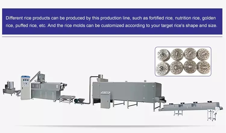artificial rice processing line