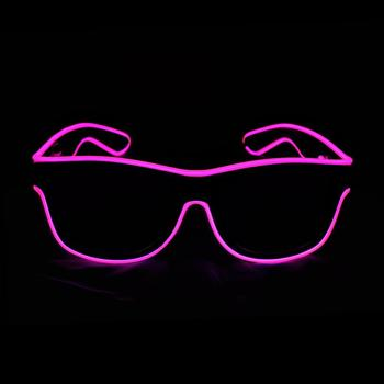 Amazon wholesale Party gift led neon glowing light el wire glasses for night club party green light sun glasses led